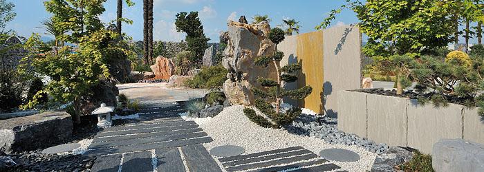 Naturstein dekoration for Gunstige gartendekoration