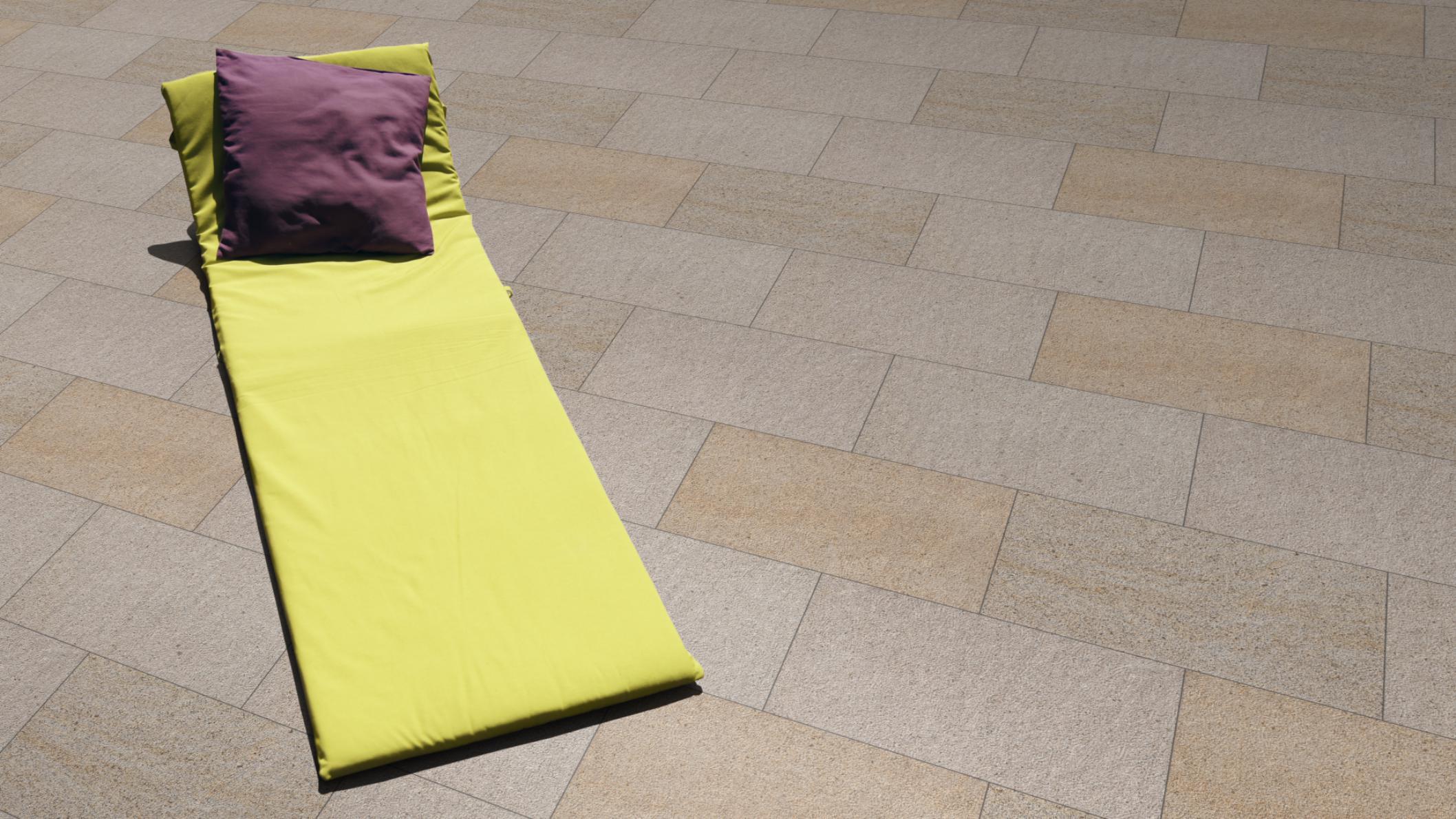 Terrassenplatten Granit Gelb Br Gestockt Naturstein Baumaterial