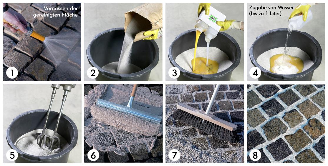 pflasterfugenm rtel fugenm rtel sandfarben naturstein baumaterial. Black Bedroom Furniture Sets. Home Design Ideas