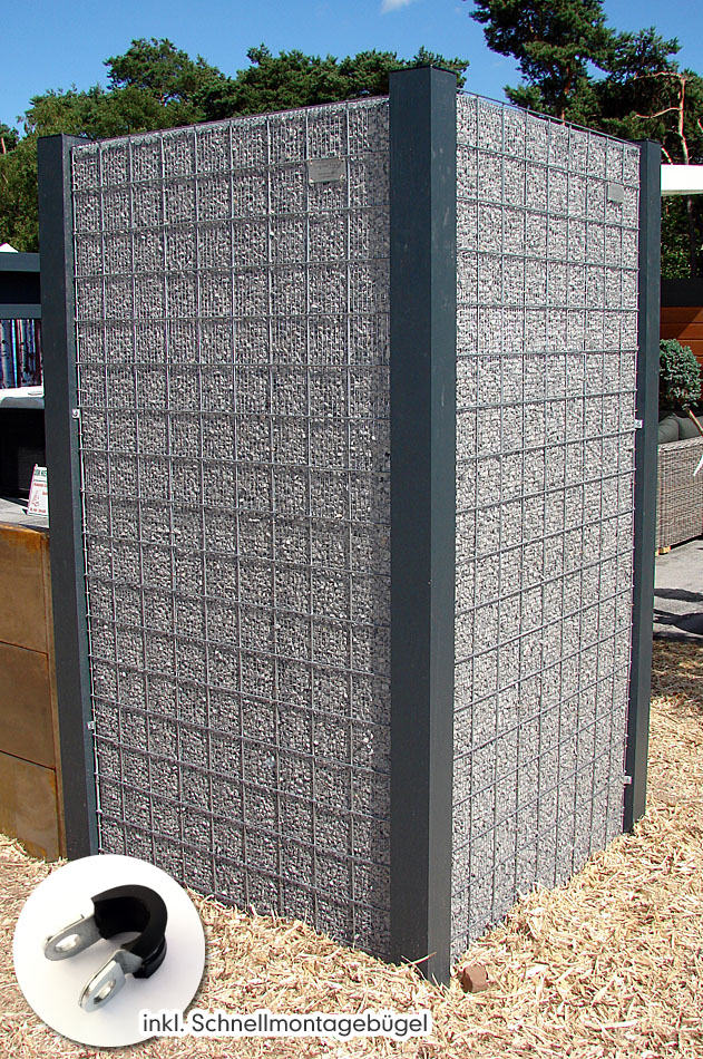 kies splitt gabione toscana nur 4 cm tiefe naturstein. Black Bedroom Furniture Sets. Home Design Ideas