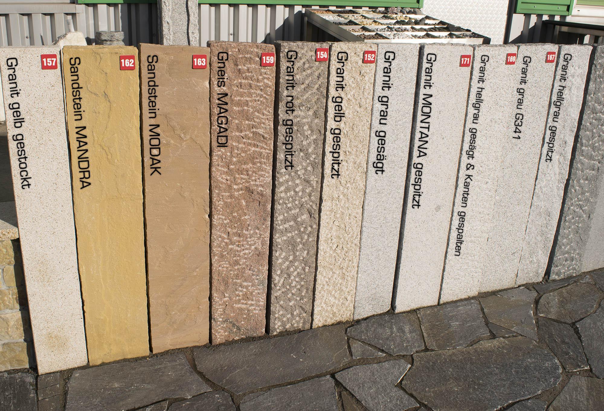 Palisaden Granit Hellgrau Br 12x12 Cm Gespalten Naturstein