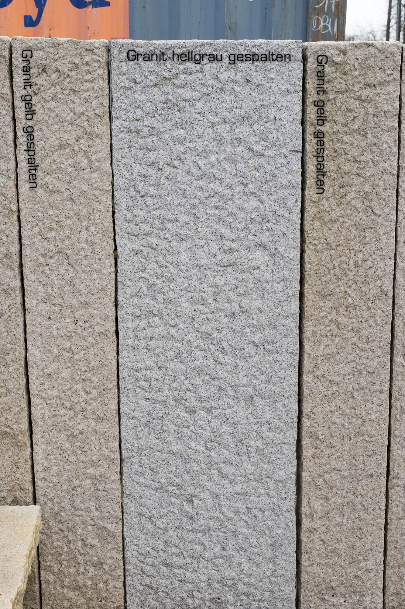 palisaden granit gelb grau konisch 10 12x12 cm gespalten. Black Bedroom Furniture Sets. Home Design Ideas