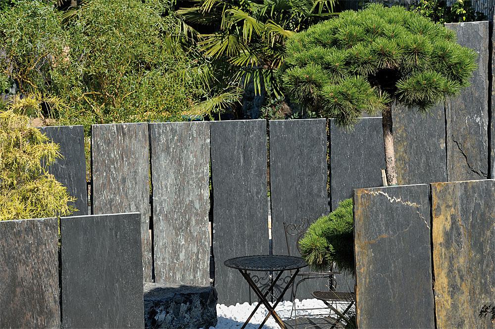 Palisaden schiefer graphit 3 7x50 cm gespalten - Vallas de plastico para jardin ...