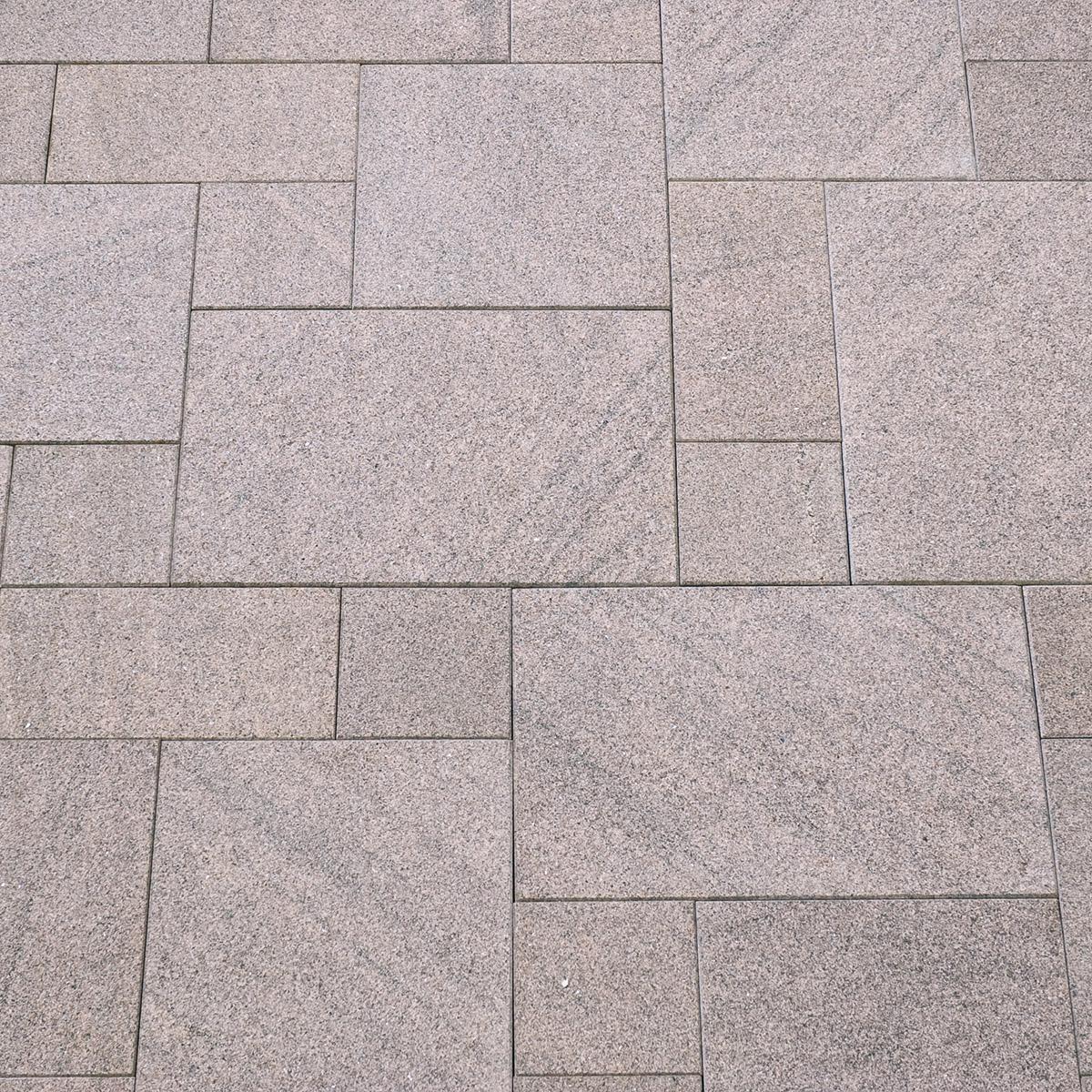 Terrassenplatten Granit Rot Br Geflammt Naturstein Baumaterial