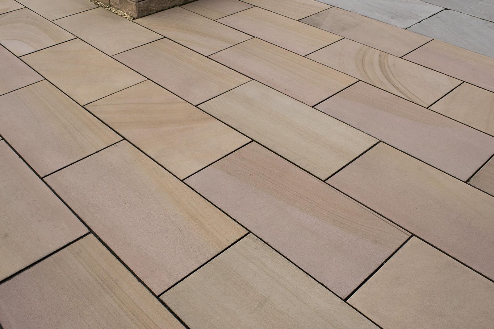 Terrassenplatten Sandstein Mandra Antik Br Geburstet Naturstein