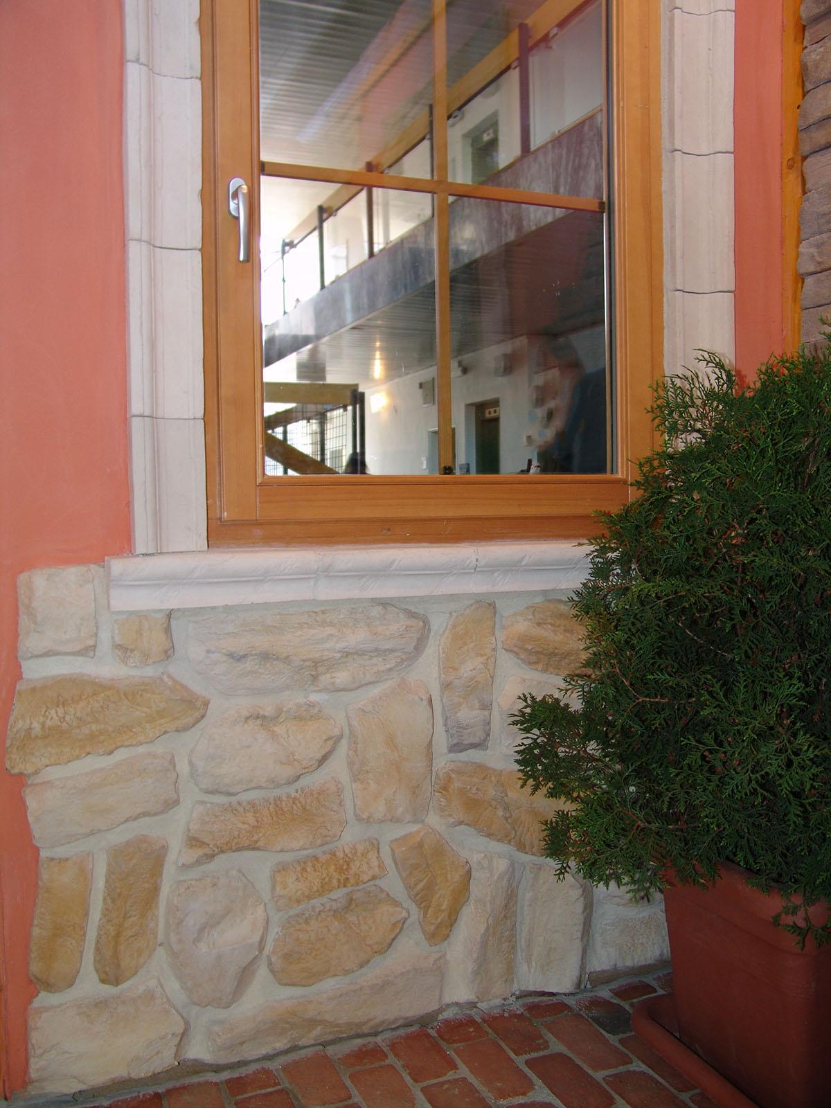 Fenster- / Türumrahmung<br> Fensterbank (Naturstein Baumaterial)