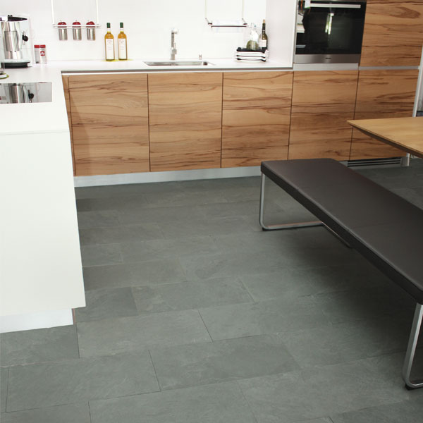 Küchenboden Grau: Bodenplatten Grau