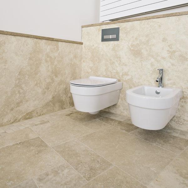 Bodenplatten travertin tuscany beige naturstein baumaterial - Naturstein bad ...
