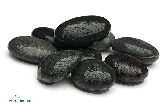 Bild 4 - Beach Pebbles Premium <br>Pacifica polished schwarz-grau 50-100 mm