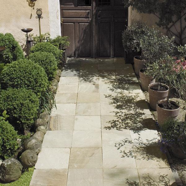 Terrassenplatten Sandstein Mint Naturstein Baumaterial