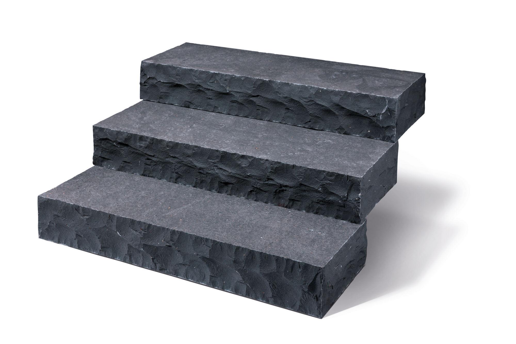 Blockstufen basalt anthrazit