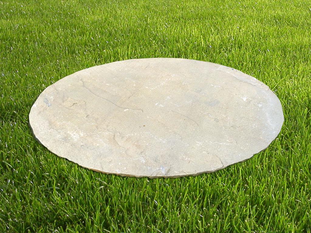 trittplatte sandstein mint oval (naturstein dekoration)