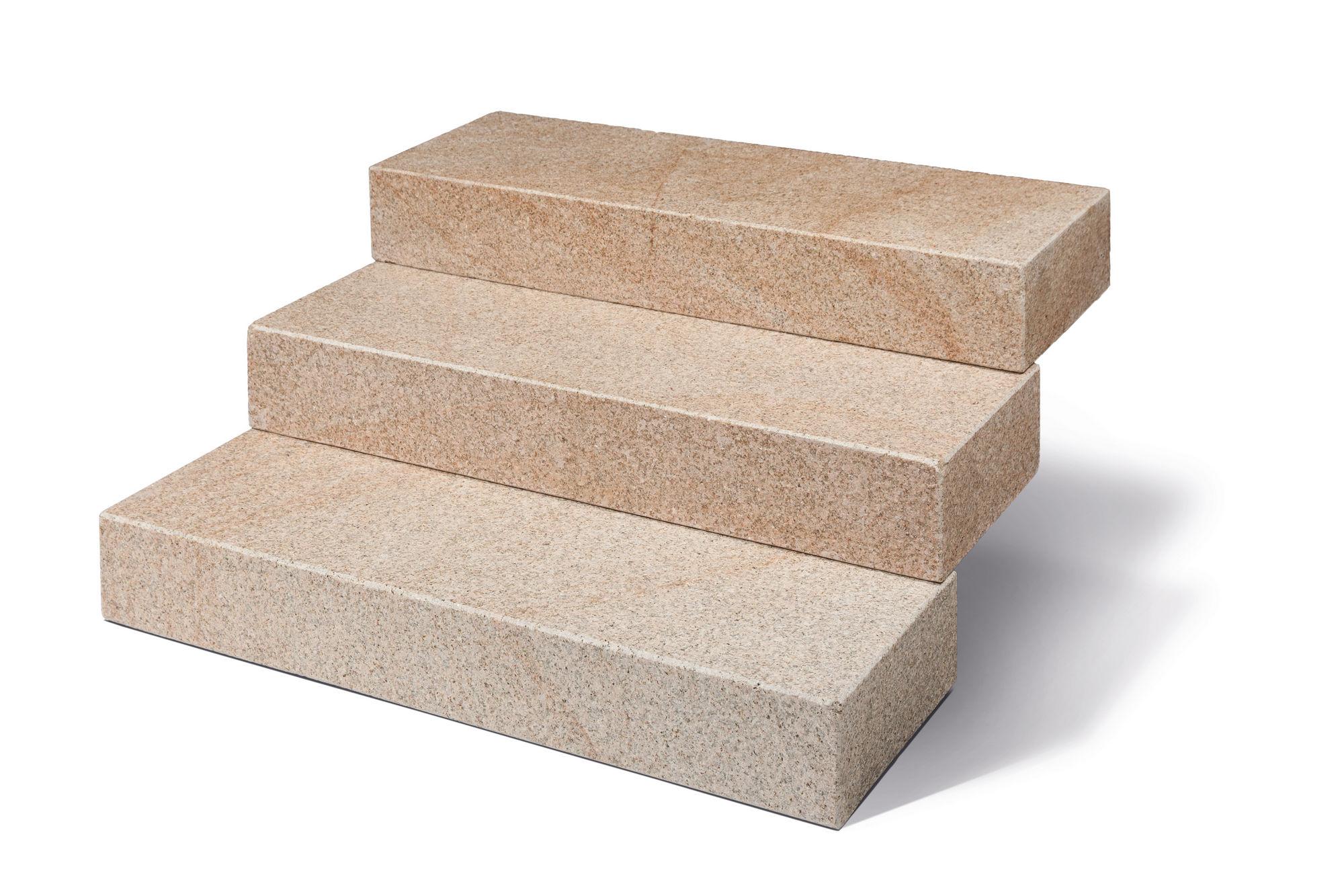 blockstufen granit rot gelb geflammt naturstein baumaterial. Black Bedroom Furniture Sets. Home Design Ideas