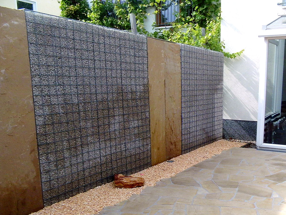 kies splitt gabione verona 200 x 100 x 10 cm naturstein baumaterial. Black Bedroom Furniture Sets. Home Design Ideas