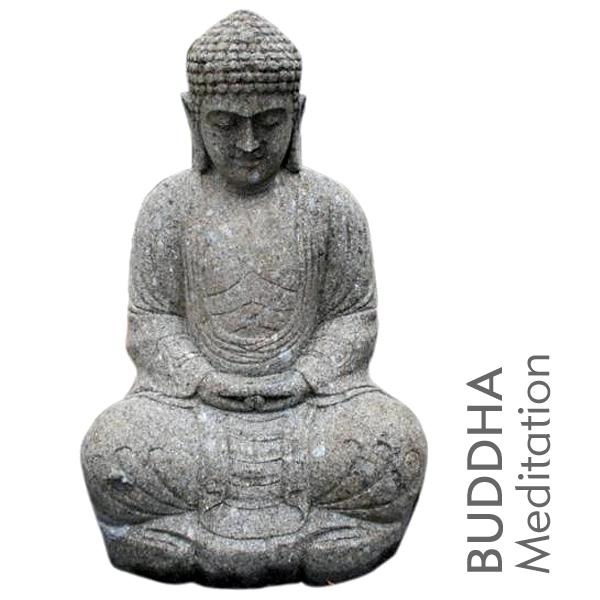 buddha figur sitzend meditation naturstein dekoration. Black Bedroom Furniture Sets. Home Design Ideas