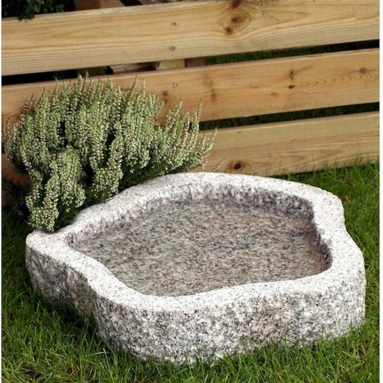 Vogeltr nke naturform granit grau ca 30 bzw 50 cm for Gunstige gartendekoration
