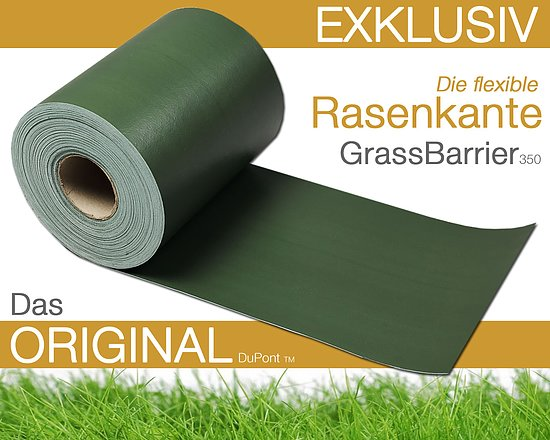 Bild 1 - Grass Barrier 350<br>Flexible Rasenkante