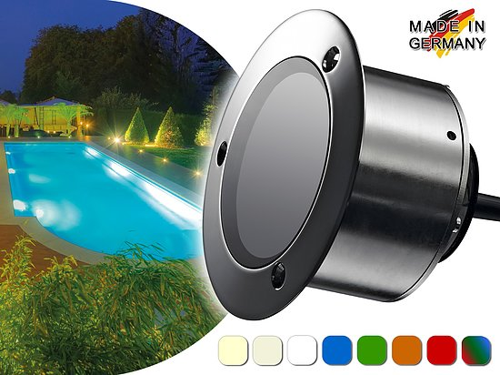 LED Pool-/Teichstrahler<br>Aquaros 20<br>max. 2.150 Lumen<br>24 V / 20 W (IP 68)
