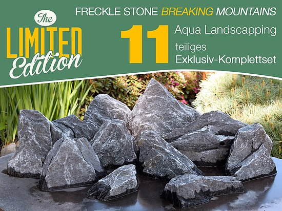 Bild 1 - 11 tlg. Komplettset<br>Freckle Stone<br>Broken Mountains<br>Aqua Landscaping