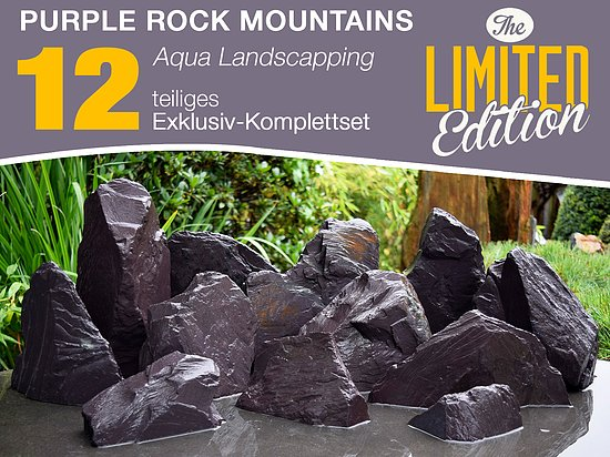 Bild 1 - 12 tlg. Komplettset<br>Purple Rock Mountains<br>Aqua Landscaping