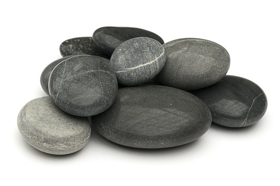 Bild 1 - Beach Pebbles Premium <br>Pacifica polished schwarz-grau 50-100 mm