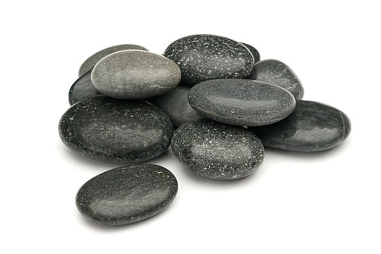Bild 1 - Beach Pebbles Premium <br>Pacifica polished schwarz-grau 50-80 mm