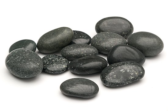 Bild 1 - Beach Pebbles Premium <br>Pacifica polished schwarz-grau 30-50 mm