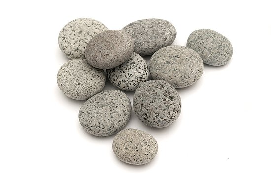 Bild 1 - Beach Pebbles Premium <br>Pacifica Salt & Pepper 50-80 mm