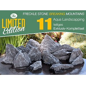11 tlg. Komplettset<br>Freckle Stone<br>Broken Mountains<br>Aqua Landscaping