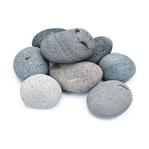 Etna Pebbles 100-200 mm<br>Flaches Lavagestein