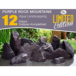 12 tlg. Komplettset<br>Purple Rock Mountains<br>Aqua Landscaping