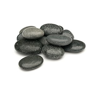 Beach Pebbles Premium <br>Pacifica polished schwarz-grau 50-80 mm