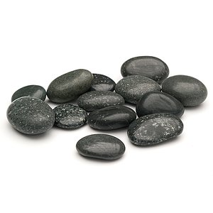 Beach Pebbles Premium <br>Pacifica polished schwarz-grau 30-50 mm