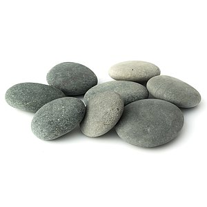 Beach Pebbles Premium <br>Pacifica schwarz-grau 50-100 mm